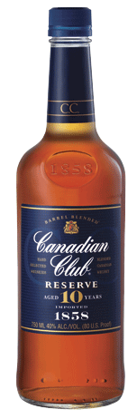 Canadian Club Whiskey Reserve 10 Yr